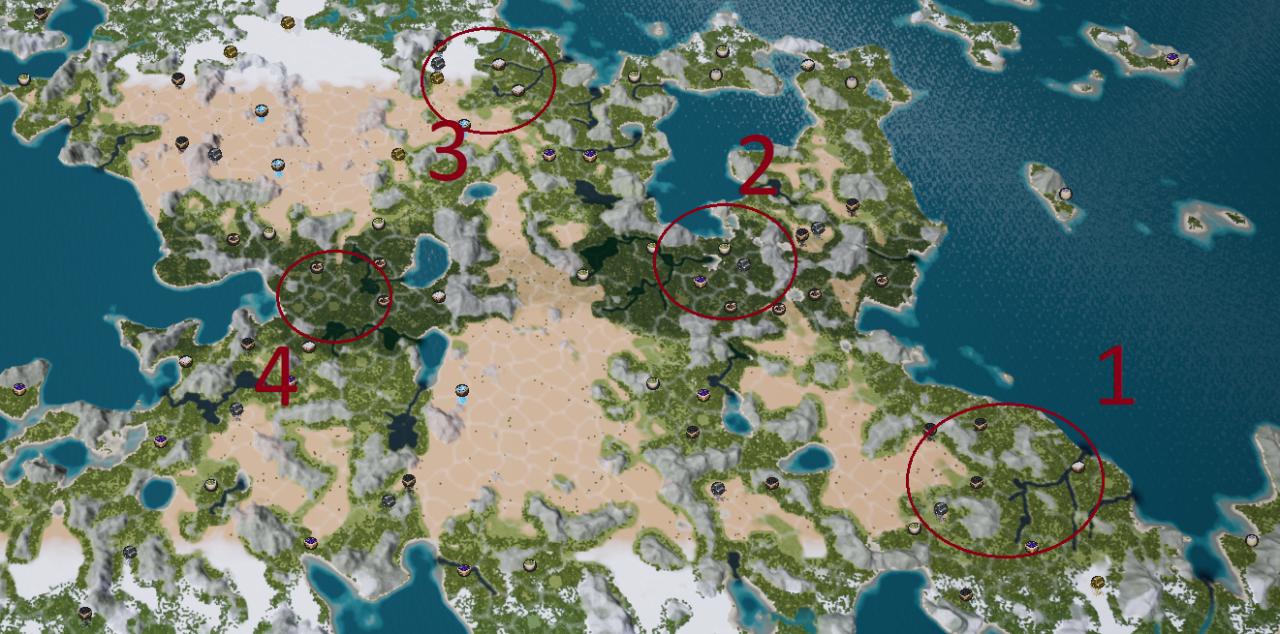 Guía de ubicación de inicio óptima de Kingdoms Reborn