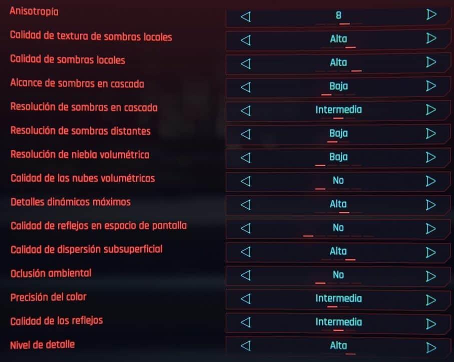 Cyberpunk 2077 Ajustes óptimos de gráficos y aumento de FPS 2