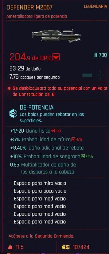 Cyberpunk 2077 Cómo conseguir la ametralladora ligera Defender Legendaria 2