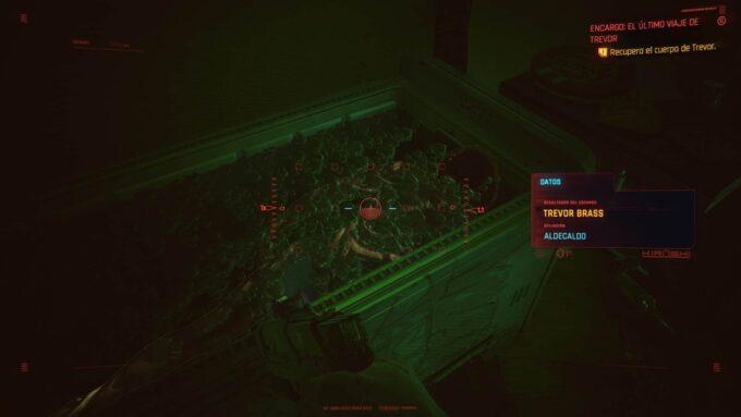 Dónde encontrar los restos de Trevor en El último viaje de Trevor en Cyberpunk 2077