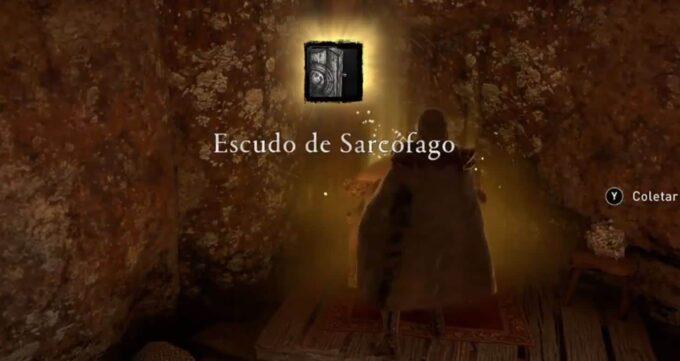 Assassin's Creed Valhalla escudo sarcofago