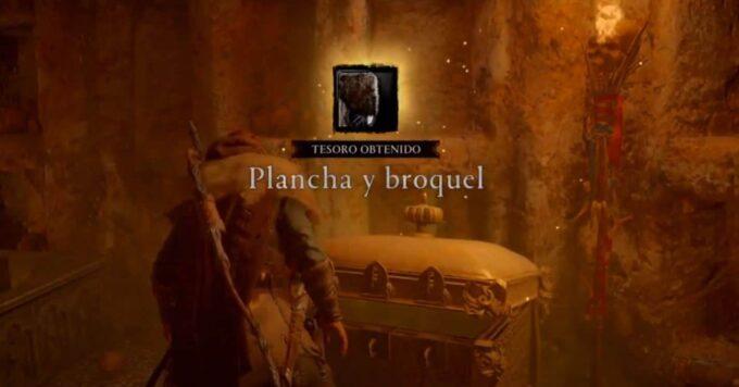 Assassin's Creed Valhalla plancha y broquel