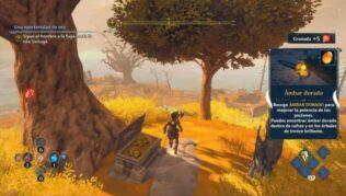 cómo conseguir ambar dorado en inmortals fenyx rising