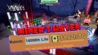 Roblox Miner's Haven Reincarnation - Lista de Códigos (Julio 2021)