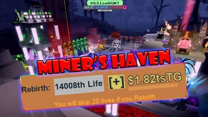 Roblox Miner's Haven Reincarnation - Lista de Códigos (Abril 2021)