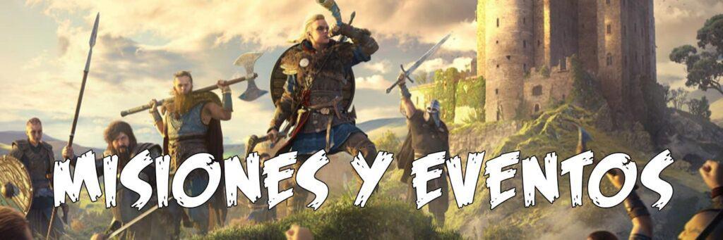 Assassin's creed Valhalla 1 missões e eventos
