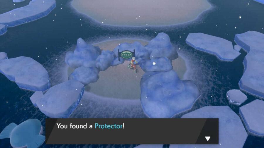 La ubicación del elemento Protector en la Ruta 9.