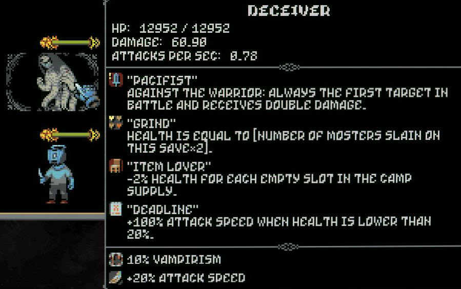 Información de Loop Hero sobre el jefe secreto de 4 equipos