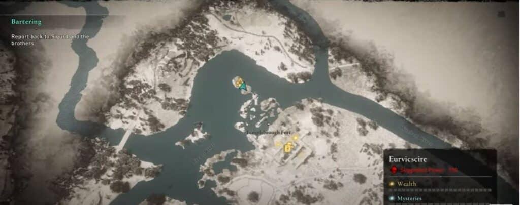 Localización de la Capa del Cazador en Assassin's Creed Valhalla 2