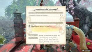 Entrega 2 huevos de Gargwa en ¿La madre de todos los avances? de Monster Hunter Rise