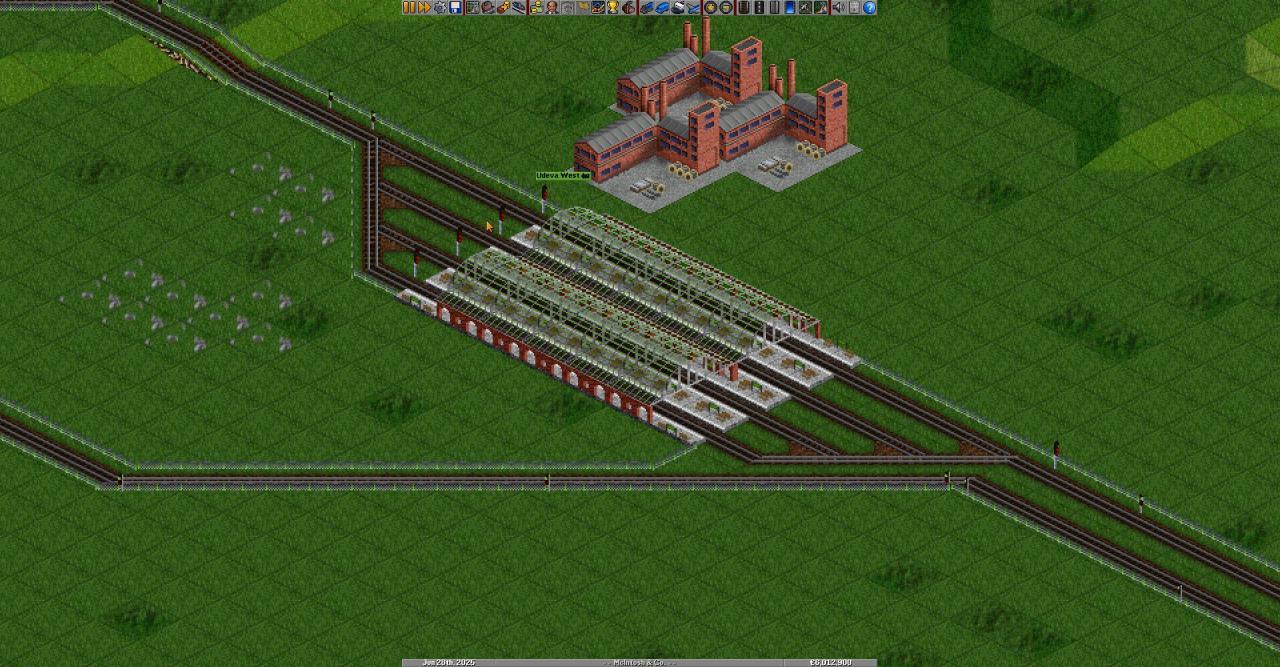 Configuraciones simples de la estación de tren OpenTTD