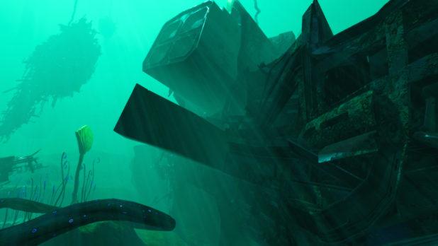 Subnautica Below Zero: Ubicación del naufragio en proa de Mercury II