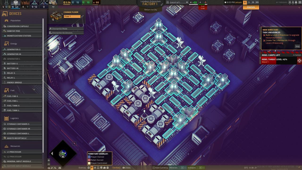 Industrias de los diseños de fábrica del juego temprano de Titan
