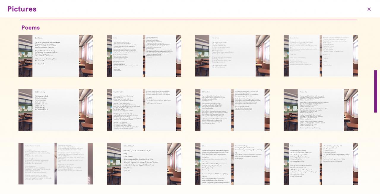 ¡Club de literatura Doki Doki Plus!  Desbloqueo de todas las imágenes (fondos de pantalla, CG, poemas, bocetos, etc.)