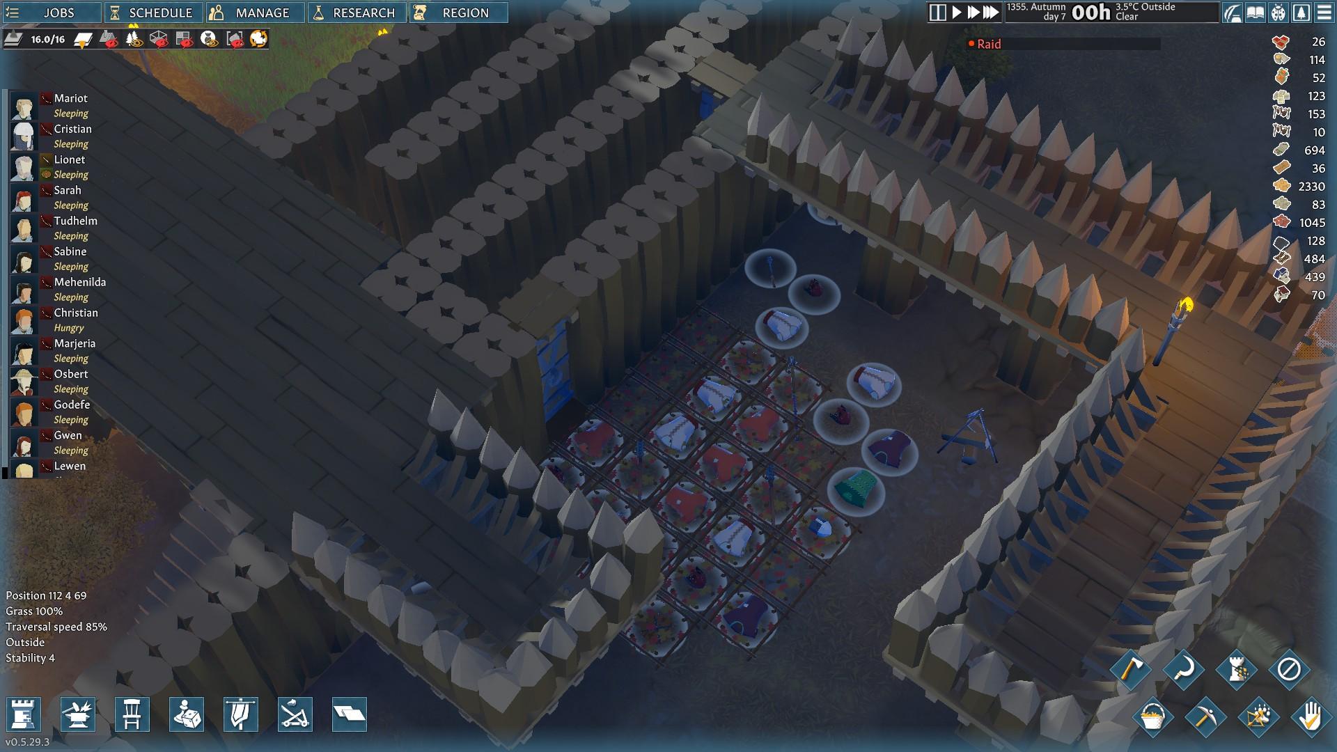 Going Medieval - Cómo defender la base del enemigo - Método 2 - Tener una estación de producción fuera de las paredes principales