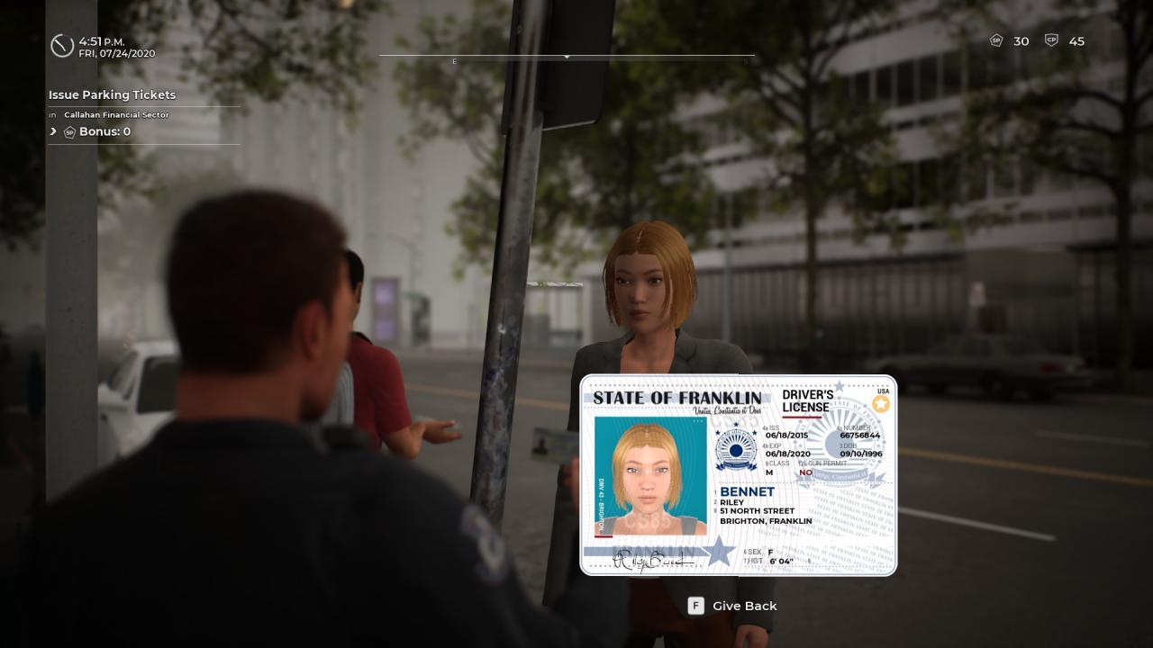 Simulador de policía: oficiales de patrulla Cómo verificar las identificaciones (diferencia, falso, vencido)