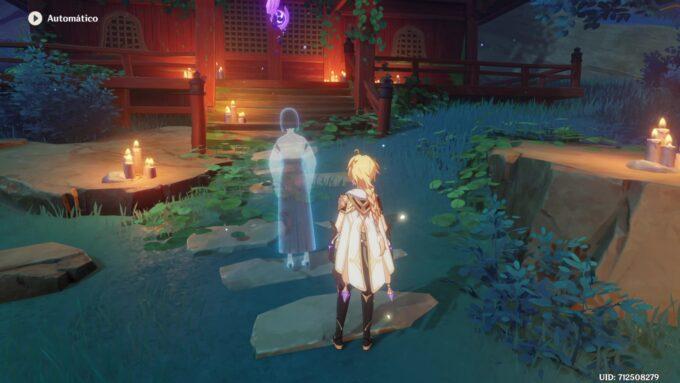 Genshin Impact - Silueta Misteriosa del Santuario Abandonado