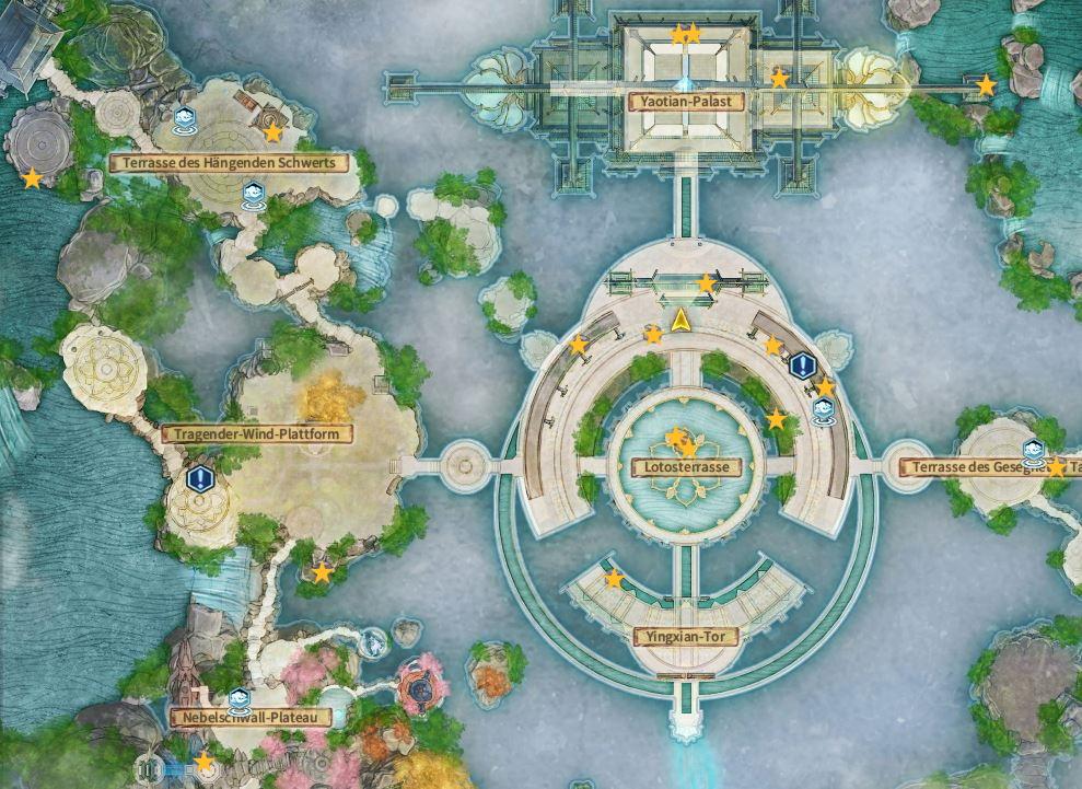 Swords of Legends Online Guía completa del mapa del tesoro