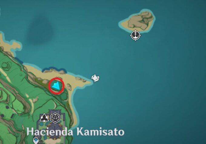 амулет к северо-востоку от поместья Камисато