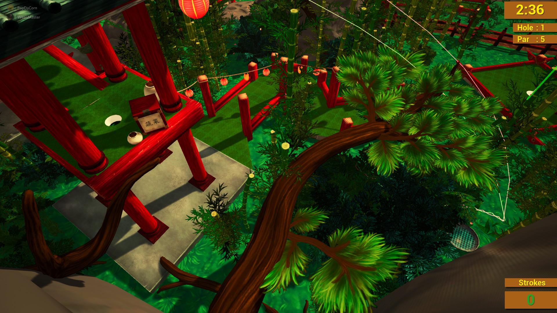 Golf It!  - Guía sobre los hoyos secretos en cada campo para los logros - Templo de Jade - E552468