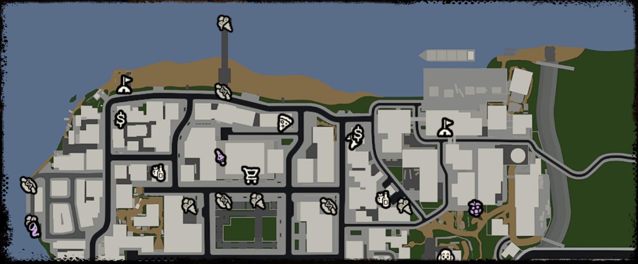 Mapa completo de ubicaciones de la base de Bum Simulator