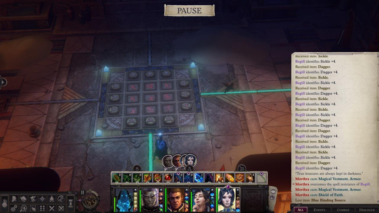 Pathfinder: Wrath of the Righteous - Solución del Puzle Enigma 8