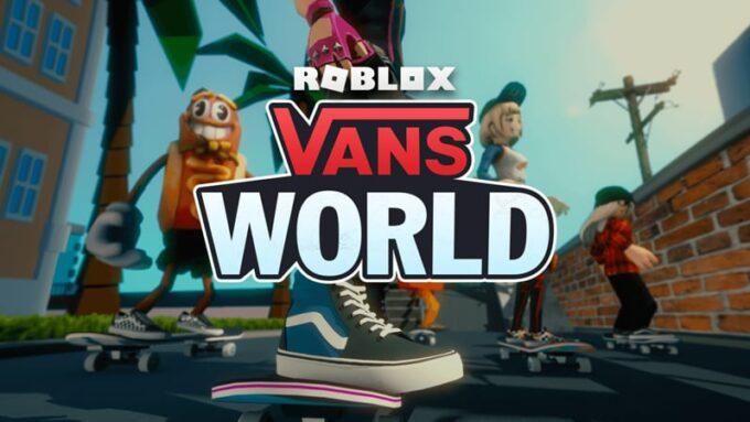 Roblox Vans World Códigos Octubre 2021