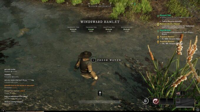 como conseguir agua en new world