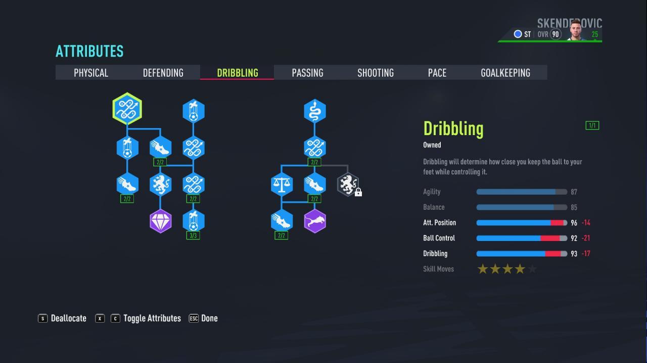 FIFA 22 - Puntuación de 90 en el modo Carrera del Jugador como Delantero 3