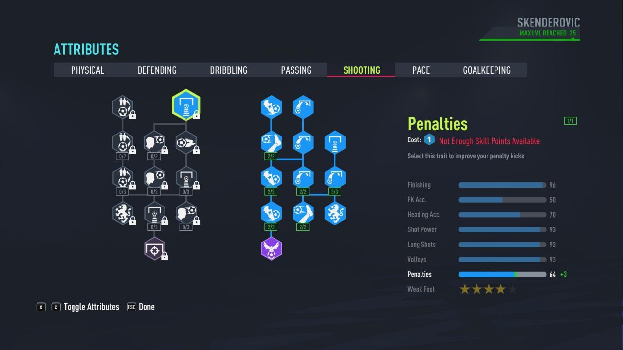 FIFA 22 - Puntuación de 90 en el modo Carrera del Jugador como Delantero 5